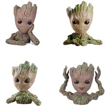 Guardians of The Galaxy Flowerpot Baby Action Figures Cute Model Toy Pen Pot Best Christmas Gifts For Kids Home Decoration Groot(China)