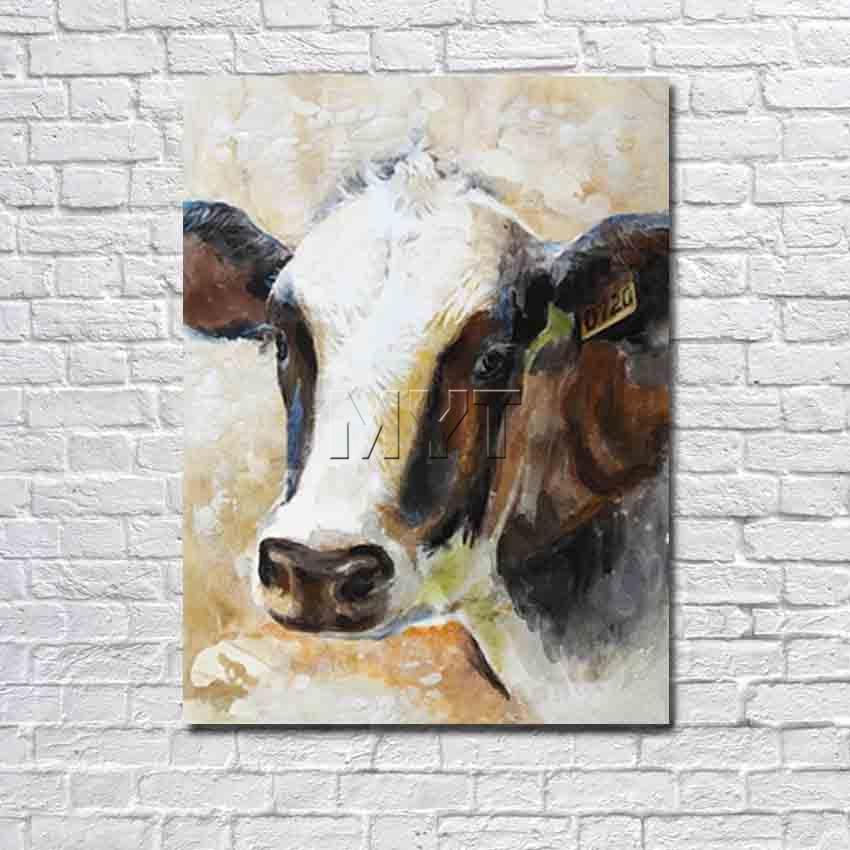 achetez en gros vache art peinture en ligne des grossistes vache art peinture chinois. Black Bedroom Furniture Sets. Home Design Ideas
