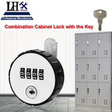 LHX MS513 Combination Cabinet Cam Lock 4 Digit Keyless for Drawer Door Gym School Locker with Key Reset h