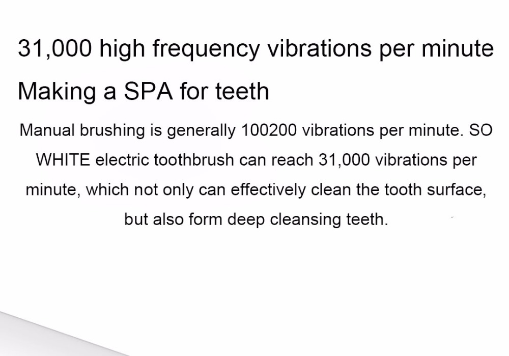 Xiaomi Mijia SO WHITE Sonic Electric Toothbrush Portable IPX7 Waterproof Deep Clean Inductive Rechargeable Wireless Tooth Brush (12)