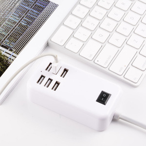 Image 5 - EU USB plug home travel charger  wall powder adapter smart usb socket hub outlet multi connection socket for xiaomi for iphone