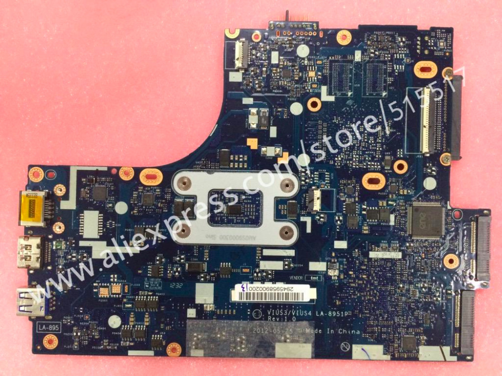 Brand New LA-8951 REV 1.0 For Lenovo S300 Laptop Motherboard with SR0FL Pentium CPU brand new ziwb2 ziwb3 ziwe1 la b092p rev 1 0 for lenovo b50 70 laptop motherboard mainboard