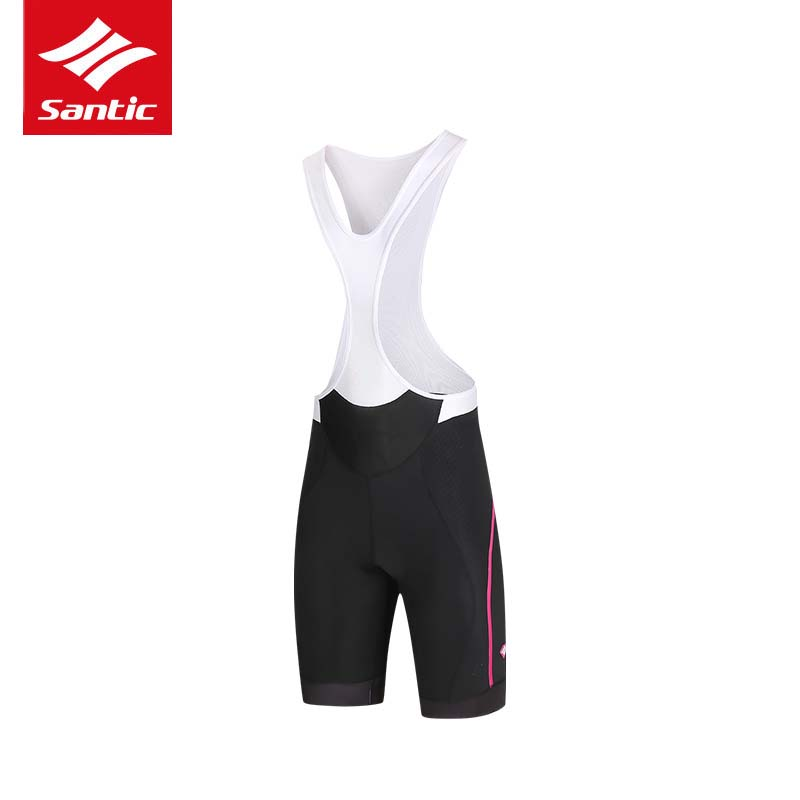 Santic Women Cycling Bib Shorts Bibs 4D Padded for Short Distance Rides Breathable Quick Dry Summer Road Bike Bicycle Bib Shorts santic cycling shorts men bib shorts 4d padded quick dry breathable mesh mountain road bicycle bike shorts ciclismo original