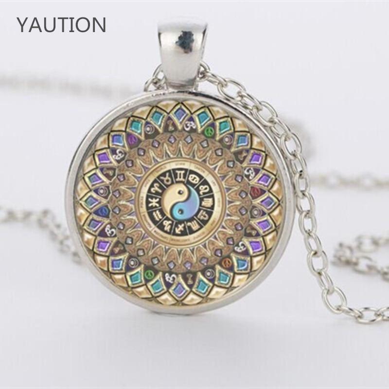 Yin Yang Jewelry Mandala Pendant