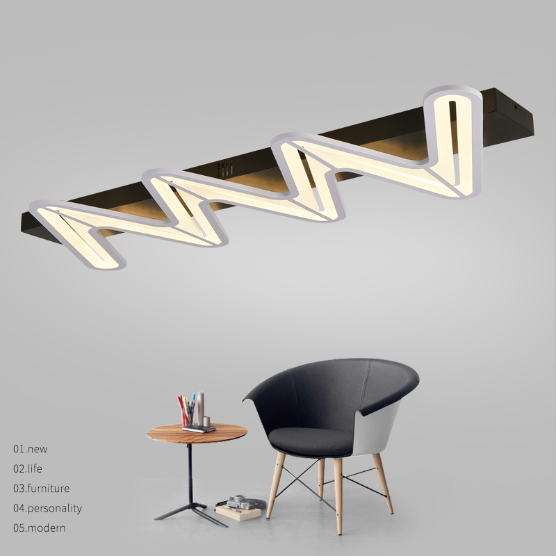Minimalist Modern led ceiling Chandelier for bedroom office lighting Home Decorative Rectangle modern chandelier lamp