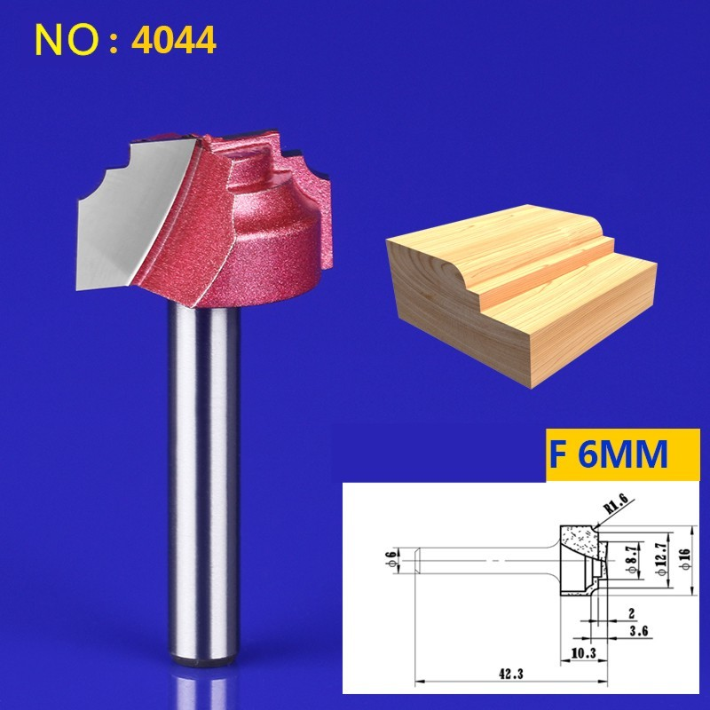 1pcs NO:4044 6*16mm Chest/Door Engraving Machine Milling Knife,Wood Cutter Router Bit Knives 3D Lace Woodworking milling cutter ontario knife rat 1