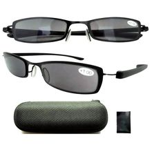 1be9b9c73bac R14019 Patented Gray Tinted Sun Readers Reading Glasses For Men and Women  W case(