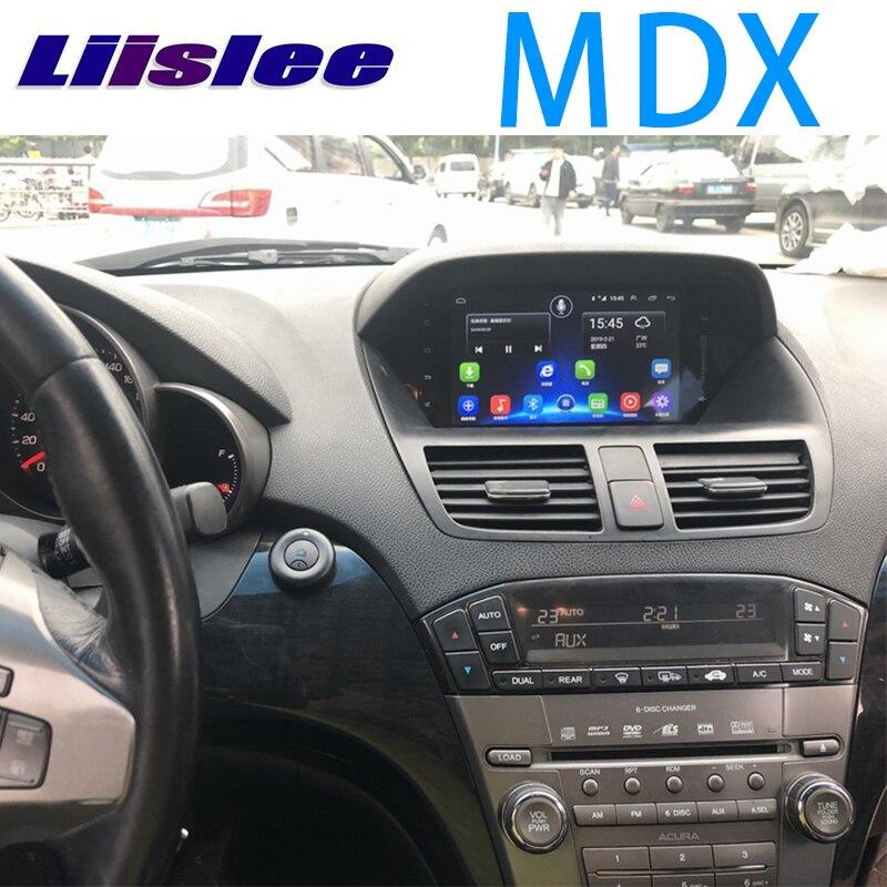 LiisLee coche Multimedia GPS de Audio de alta fidelidad, Radio estéreo para Acura MDX MK2 2007 ~ 2013 Original estilo de navegación NAVI