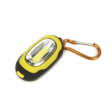 Portable Mini Magnetic Small Key Chain mini Flashlight COB Super Brightness with Carabiner Flashing Light free shipping