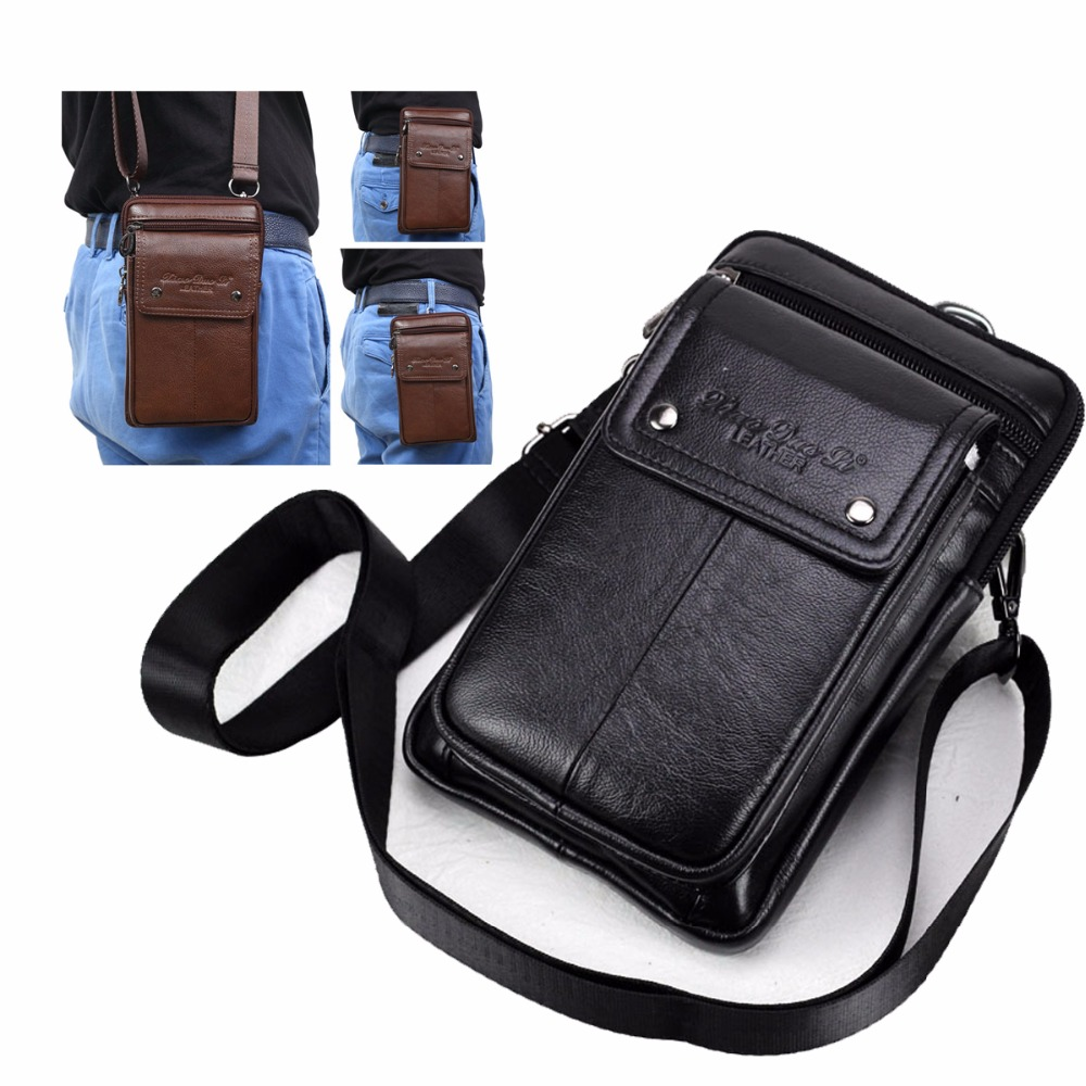 Genuine Leather Carry Belt Clip Pouch Waist Purse Case Cover for Huawei Ehre 8X Max Phone Clasp Outdoor Bag Bags Free Shipping