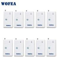 Wofea wireless vibration sensor shock detektor 10 teile/los freies verschiffen-in Sensor & Detektor aus Sicherheit und Schutz bei