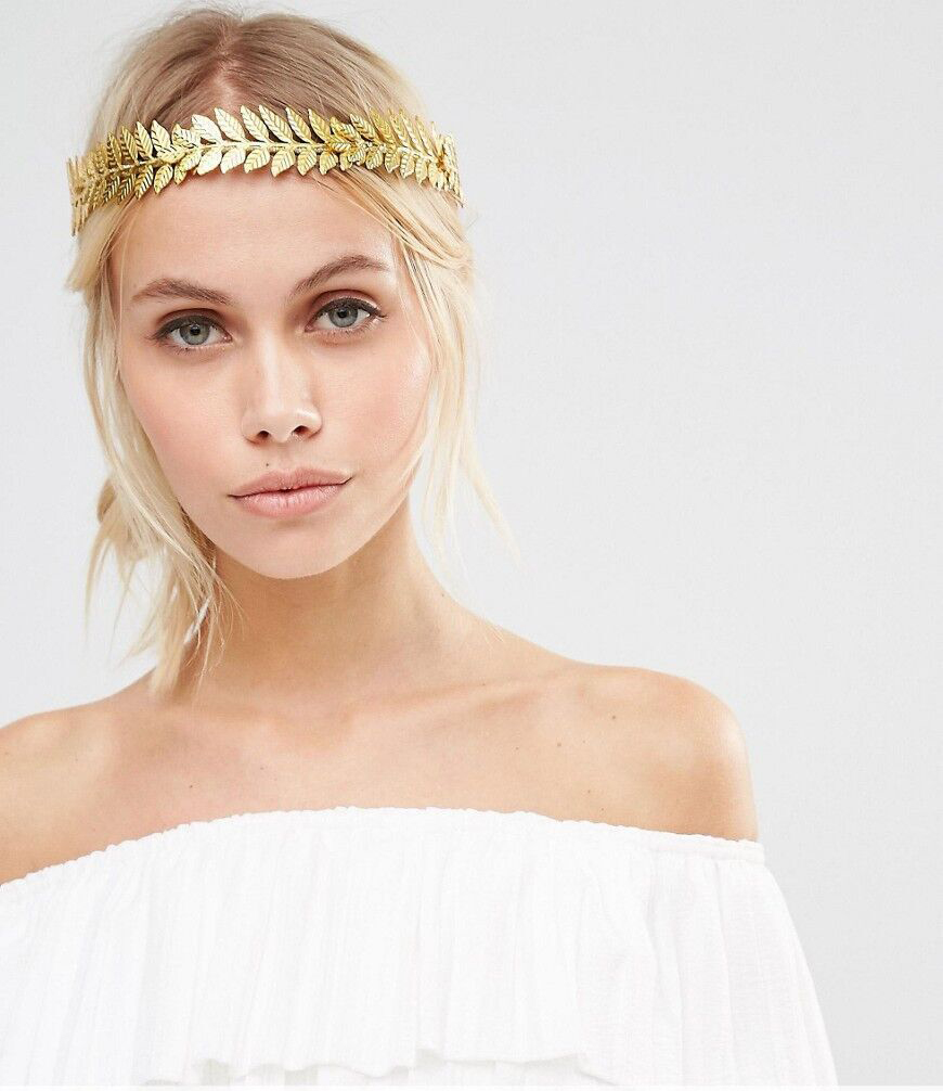 Fashion Design Silver Gold Metal Leaf Hairband for Girl Women Wedding Party Big Round Crown Tiaras Hair Accessories Jewelry 2018