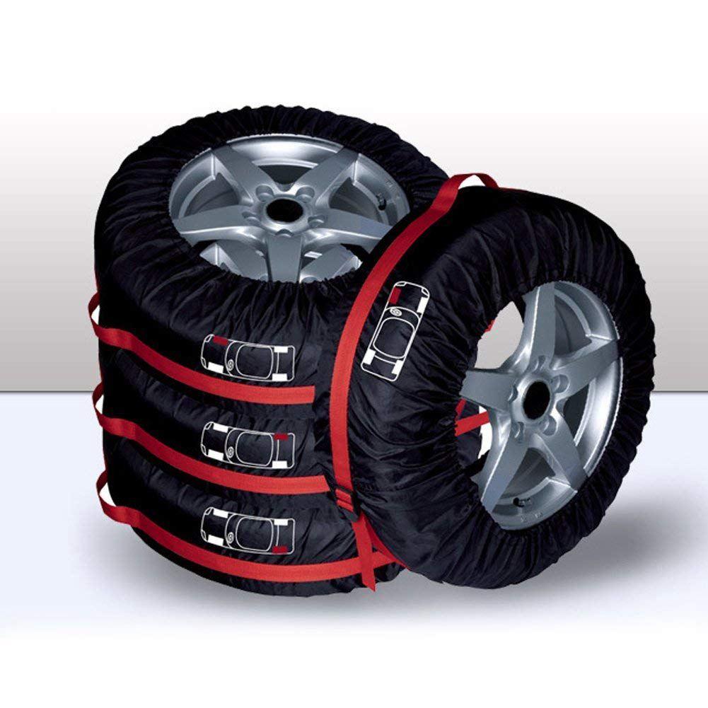 Чехол для запасного колеса, чехол для гаражных шин из полиэстера с ручным ремешком, сумка для хранения зимних и летних автомобильных шин, аксессуары для автомобильных шин Wh - Цвет: S