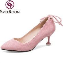 f2f4e939be Mulher bombas pontas do dedo do pé de noivado Smeeroon moer arenosos sapatos  ocasiões formais gravata