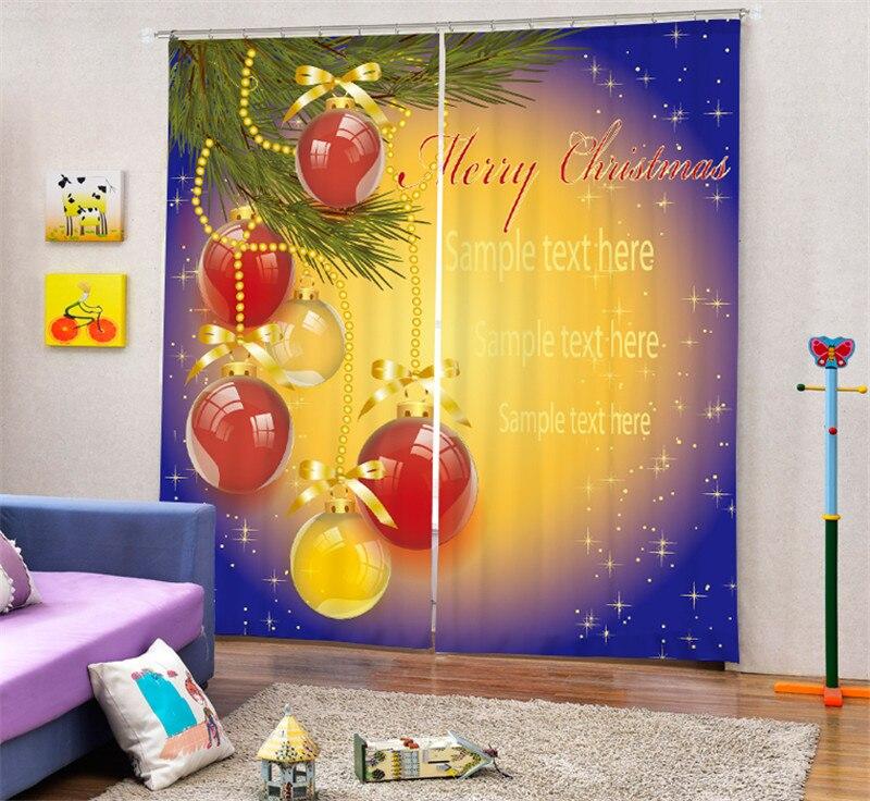 Современная роскошь Рождественский подарок 3D плотные шторы на окне для постельных принадлежностей Гостиная Home настенные декоративные hotel шторы Cortina - 3