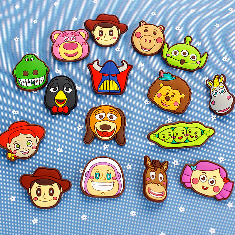 Labels, Indexes & Stamps Badge Holder & Accessories Sincere 15pcs/set Creative Cartoon Anime Brooch Character Design Brooch Safety Pin Brooch Ornament Accessories Novelty Cartoon Promote The Production Of Body Fluid And Saliva