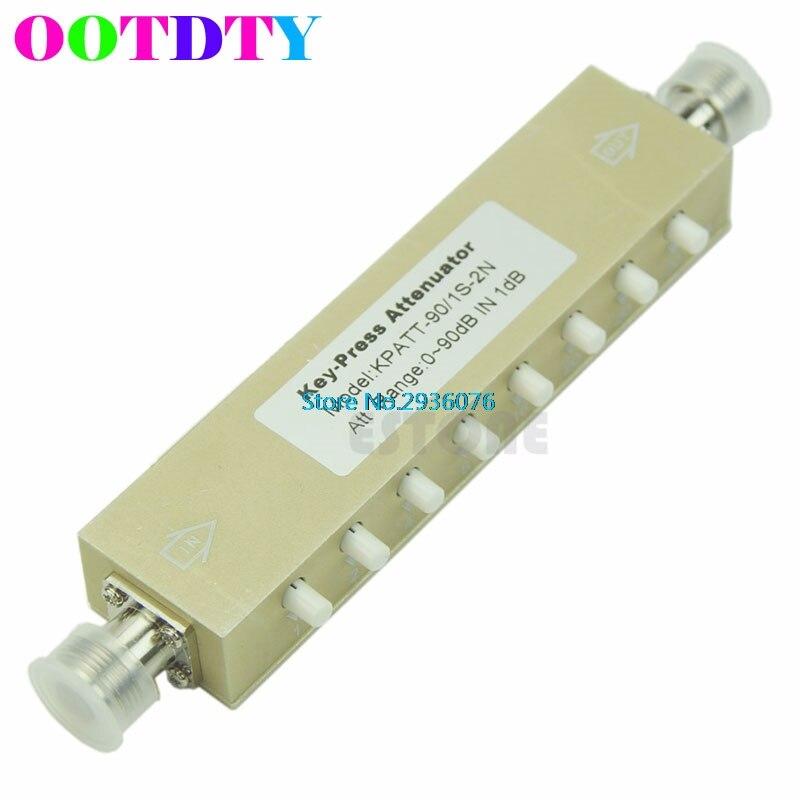 Adjustable Key-Press Variable Attenuator 5W 0-90dBi DC-2.5GHZ 50ohm 8-key MY8_10 10x 5w watt 2r2 2 2 ohm 5