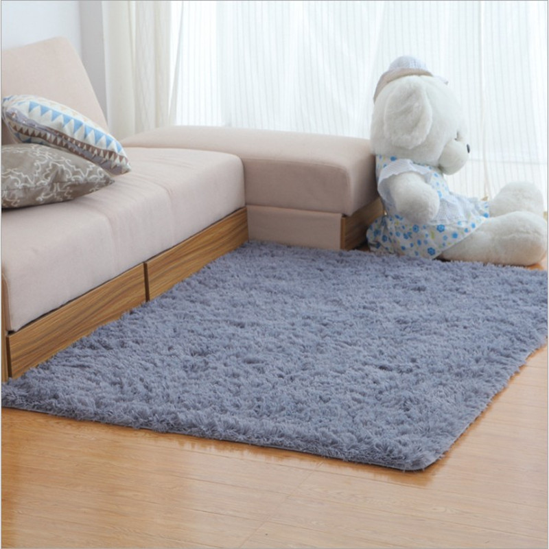 wholesale 140*200cm Water does not rub off silk carpet nap bedroom - Home Textile - Photo 2