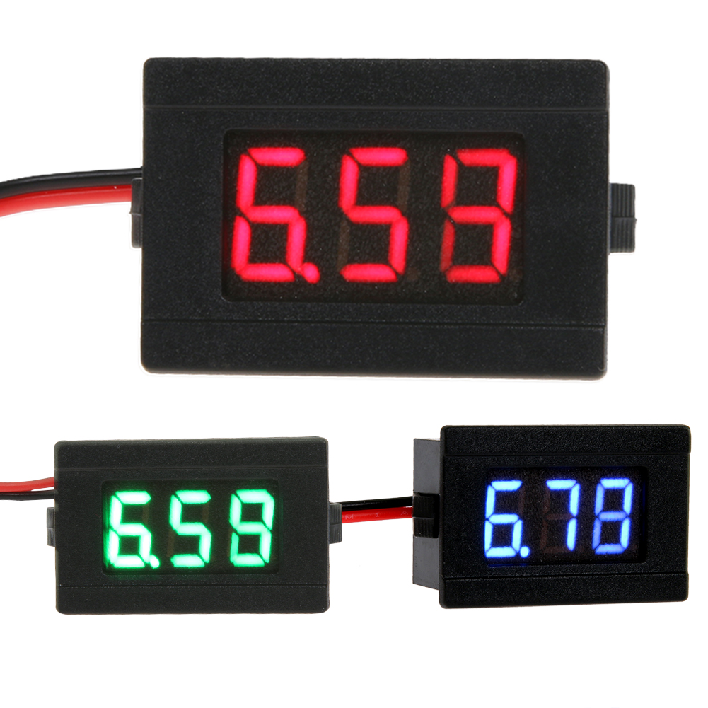 0.36inch Automotor LED Digitale Voltmeter Gauge Volt Voltage Paneel Meter LED Volt Paneel Meter Gauge Meting DC 4.5-30V