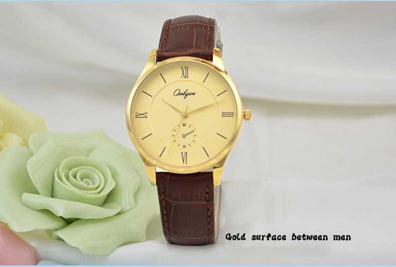 Onlyou Brand Men Women Watches Fashion Casual Quartz Watch Genuine Leather Wristwatches Ladies Dress Watch Male