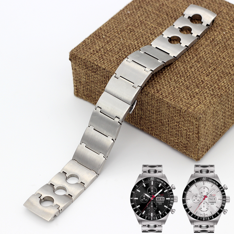 Sport-racing Car Series PRS516 T044 Watch Strap Band For Men's Solid Stainless Steel Wrist Watch Bracelet T-SPORT 1853 24 20mm