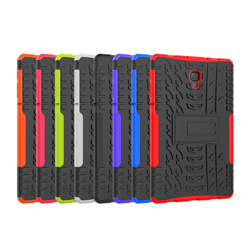 Case For Samsung Galaxy Tab A A2 10.5 T595 SM-T590 T597 Tablet Amor Case Color Grain TPU+PC Heavy Duty Case Hybrid Rugged Rubber