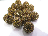 whoesale 50pcs 4 16mm Micro Pave Clay Crystal rhinestone Round Ball lais blue gold clear white mixed Charm beads