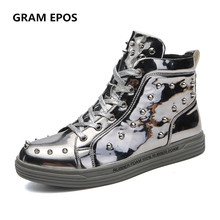 GRAM EPOS 2018 New Spring Autumn Men Super Cool rhivets Casual Shoes Men  High Tops Fashion · 3 Colors Available a11272d473d0