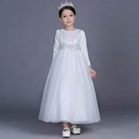 High Quality Flower Girl Dress White Simple Long Dress For Girl Of 2 14 Years Old