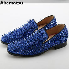 1cbc170075 Popular Blue Dress Shoes with Spikes-Buy Cheap Blue Dress Shoes with ...