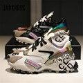Jady Rose/Новинка 2020 года; женские кроссовки; повседневная обувь на плоской подошве; женская обувь на платформе со шнуровкой; эспадрильи; Tenis ...