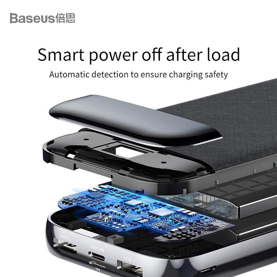 Baseus 20000mAh Power Bank 000 mAh LCD USB C PD Fast Charging Powerbank Portable External Battery Charger For Xiaomi Poverbank 8