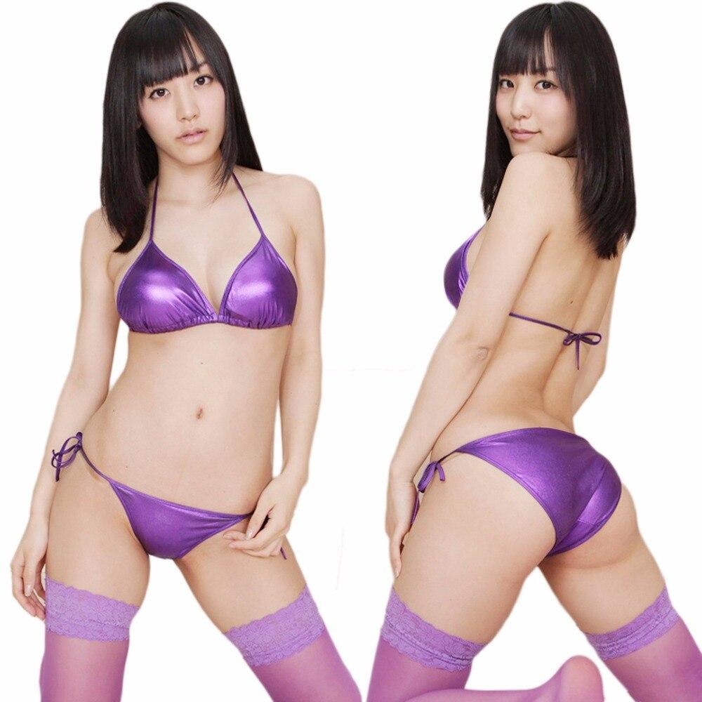 Sexy Lingerie  Faux Leather  Hot Sale Erotic Lingerie Bikinis Bra Fashion Swimwear Bikini  Pajamas  Underwear