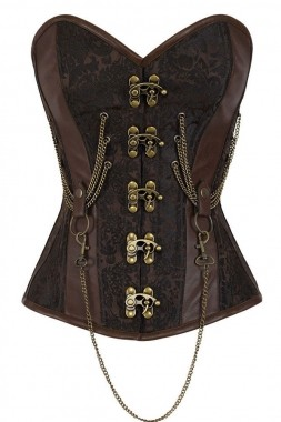 14-Steel-Bone-Hourglass-Steampunk-Chained-Overbust-Corset-LC50014-17-17712