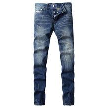 Homens Brim Jeans nova