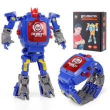Deformed Robot Watch Kids Toys Action Figure Electronic Watch Educational Gifts