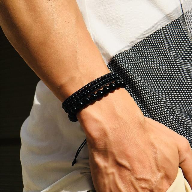 Bracelet Obsidienne Larme Apache