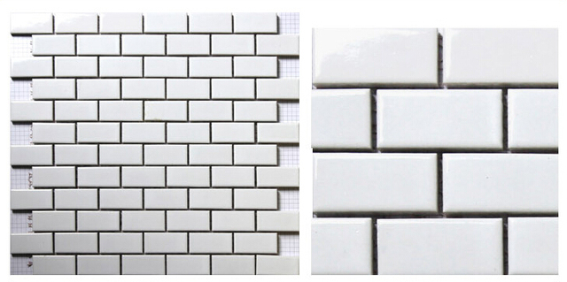 Aliexpresscom Buy white brick ceramic mosaic tile kitchen