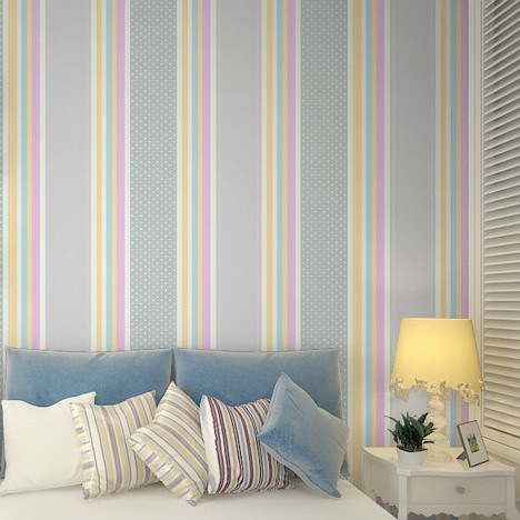 Kids bedroom wallpaper child girl vertical stripe wall paper boys wall cover baby wallpaper in wallpapers from home improvement on aliexpress com alibaba