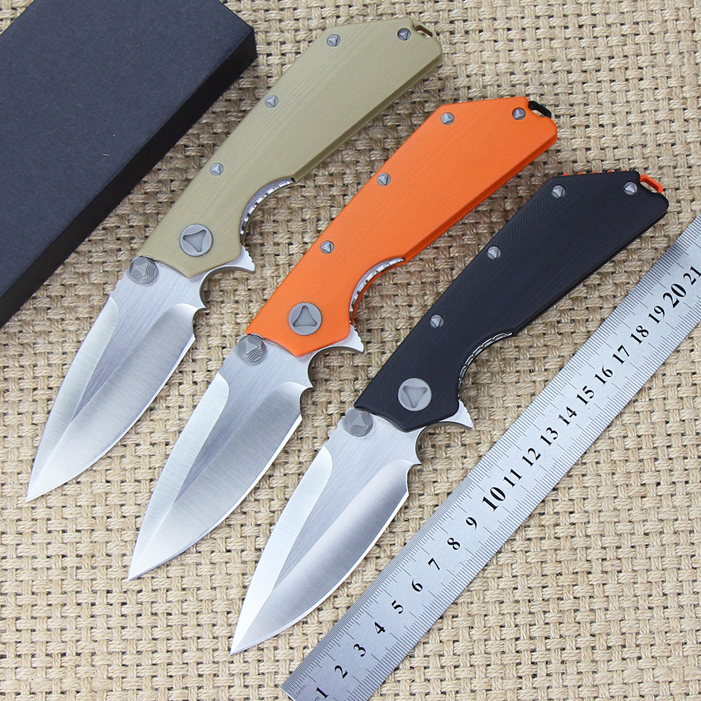 все цены на  D2 Tactical Folding Knife G10 Handle Combat Survival Pocket Knives Utility Outdoor Hunting Camping Rescue EDC Portable Tools  онлайн