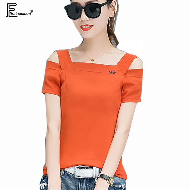 f9504735c9 Off Shoulder Tops New Hot Sale Korean Style Women Fashion Summer Strapless  Slim Fit T-