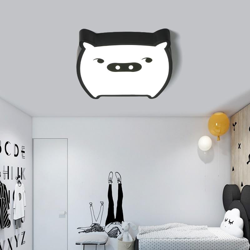 Kids Room Lighting Lovely Pig Ceiling Lights Child Bedroom Cartoon for Living Room Home Decoration Lamp