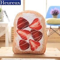 Creative Bread Decorative Pillows 40 Cm Cojines Decorativos Cushions For Bed Washable Emoji Kussens Pillow