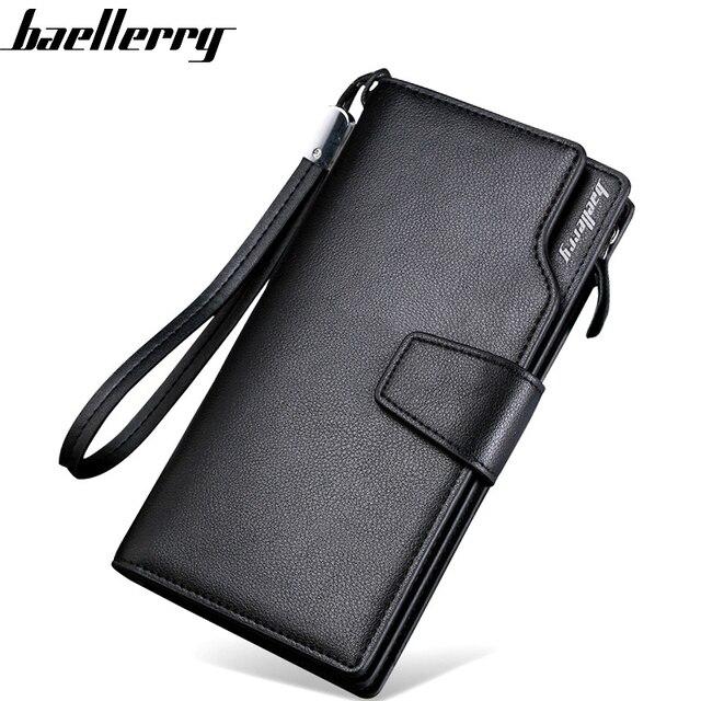 1297acc1614e US $8.86 39% OFF|Baellerry Luxury Men Wallets Brand Men Purse Long style  Male Clutch Leather Zipper Wallet Men Business Male Wallet Coin bag A942-in  ...