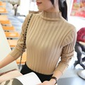 2016 Promotion Full Women Sweater Poncho New Korean Color Semi Turtleneck Shirt Female Sleeved Pullover Sweater Slim Thickening