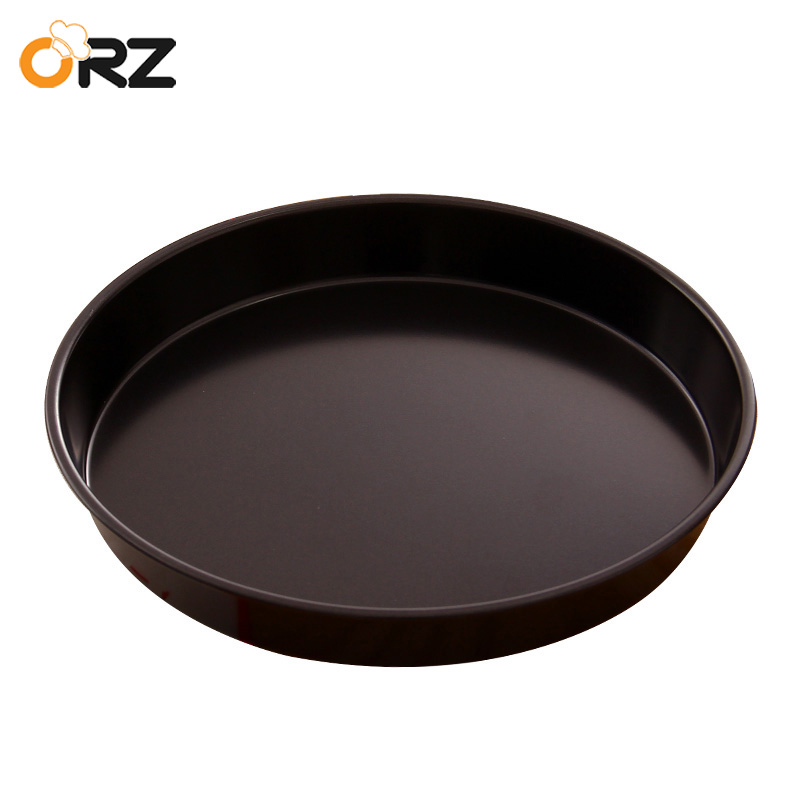 Orz 8 Inch Baking Pizza Pan Stones Non Stick Round Metal