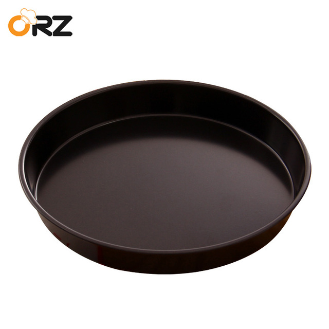 Orz 8 Inch Baking Pizza Pan Stones Non Stick Round Metal Bakeware Microwave Oven Cake