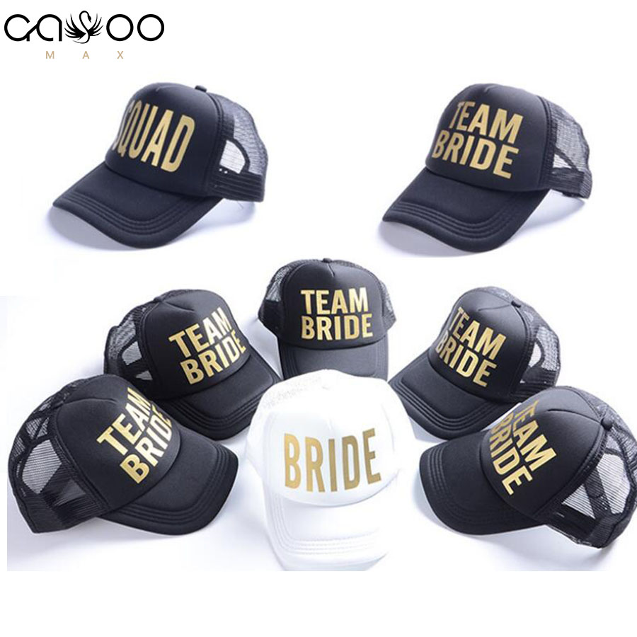 BRIDE Wedding Baseball Cap Gold Print Mesh Hat Women Party Brand Bachelor Club Team BRIDE TRIBE Snapback Caps Beach CasquetteBRIDE Wedding Baseball Cap Gold Print Mesh Hat Women Party Brand Bachelor Club Team BRIDE TRIBE Snapback Caps Beach Casquette