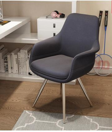 Revolving function computer chair household. Flannelette desk chair. Game chair the silver chair