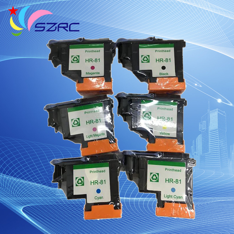 High quality C4950A C4951A C4952A C4953A C4954A C4955A Printhead Remanufactured Print Head For HP81 81 Design Jet 5000 5500PS mantra 4955